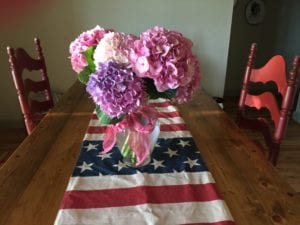 Flowers for Holiday events like the 4th of July
